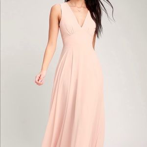 "Lulus ""Here For Love"" sleeveless maxi dress"